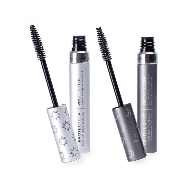 Revitalizer and protector duo for natural lashes and eyelash extensions