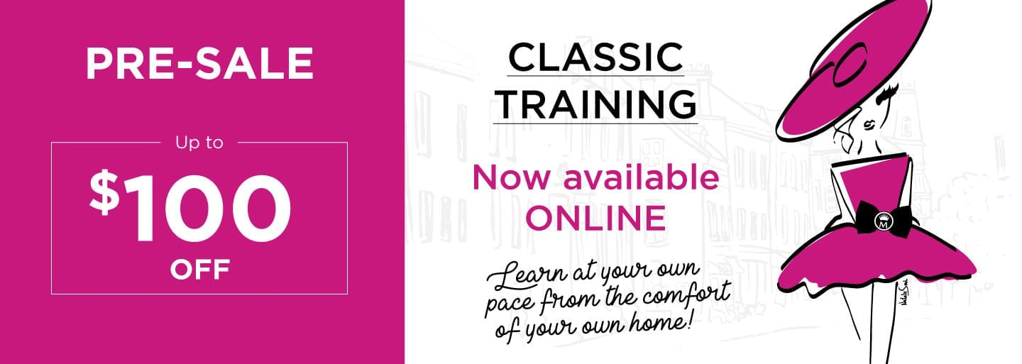 $100 rebate on the pre-sale of online classic training